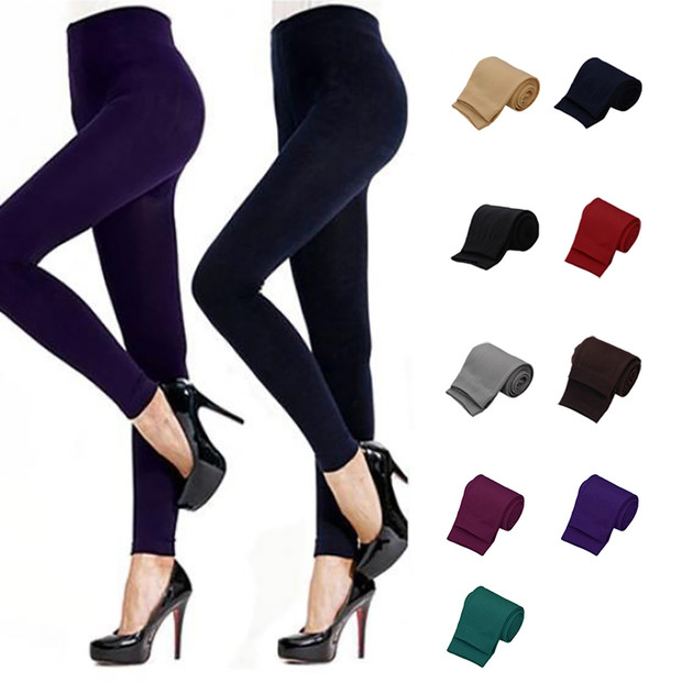 Hot 2018 New Fashion Women's Autumn Winter High Elastic Good Quality Thicken Velvet Pants Comfortable Red Female Warm   Leggings