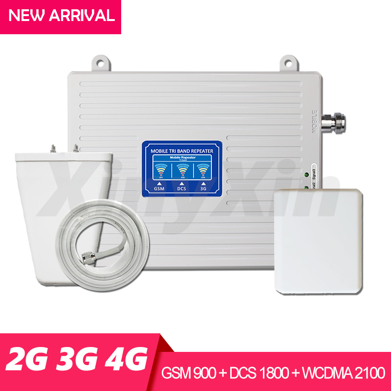 900 1800 2100 Cellular Signal Amplifier GSM LTE DCS WCDMA 2G 3G 4G Repeater Tri band