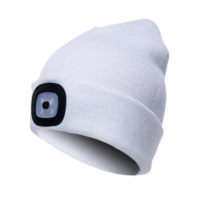 Lower Price with Novelty Led Light Winter Warm Knitting Caps Men/women Aports Hats Beanies Bonnet Hats For Camping Hiking Bicycle Lighting Vivid And Great In Style Lights & Lighting