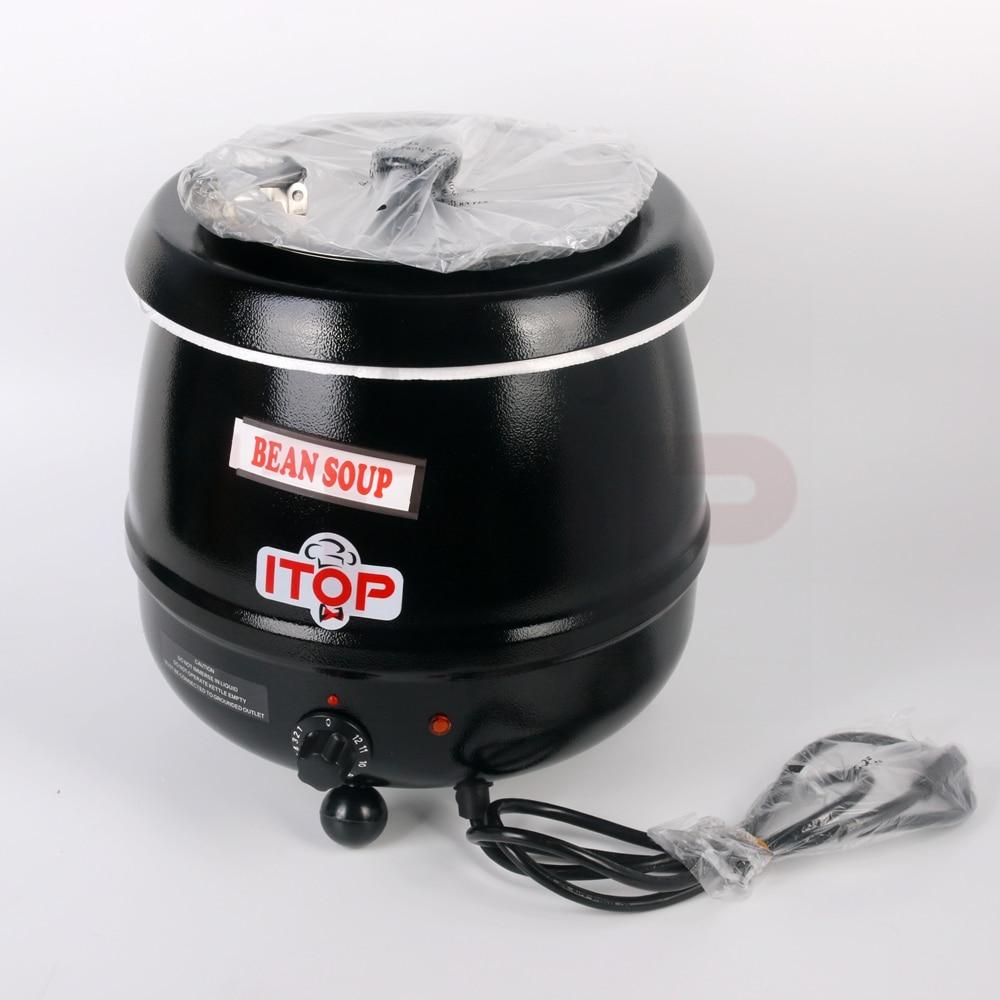 ITOP Commercial Electric Soup Kettle Warmer Stainless Steel 10Liter Soup Warmer Pot 110V/60Hz 220V/50Hz Wet Heat Food Cooker