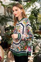 Женские Модные блузки и рубашки 2019 взлетно посадочной полосы роскошь известный бренд Европейский дизайн вечерние Стиль Женская одежда Wd02159