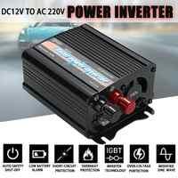 300W Max Solar Power Inverter 12 V to AC 220 Volt Digital Display Modified Sine Wave Car Charge Converter Transformer