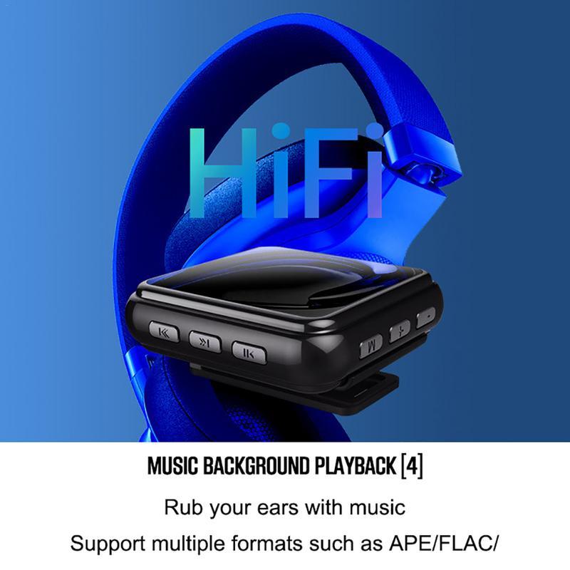 Newsmy B58 MP3 MP4 lecteur sport en cours d'exécution Portable métal enregistreur vocal FM Radio podomètre