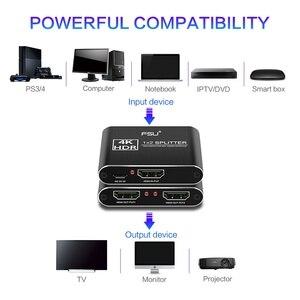 Image 4 - مقسم الوصلات البينية متعددة الوسائط وعالية الوضوح (HDMI) 2.0 4K @ 60Hz الجلاد 1X2 HDR 4K كامل HD فيديو HDMI إلى HDMI التبديل محول 1 في 2 خارج مكبر للصوت للتلفزيون DVD PS3 Xbox