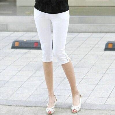 Hot sale Women's Plus Size S-XXXL Summer Slim waist candy color stretch Leggings capris fashion Pencil pants Crops For Female