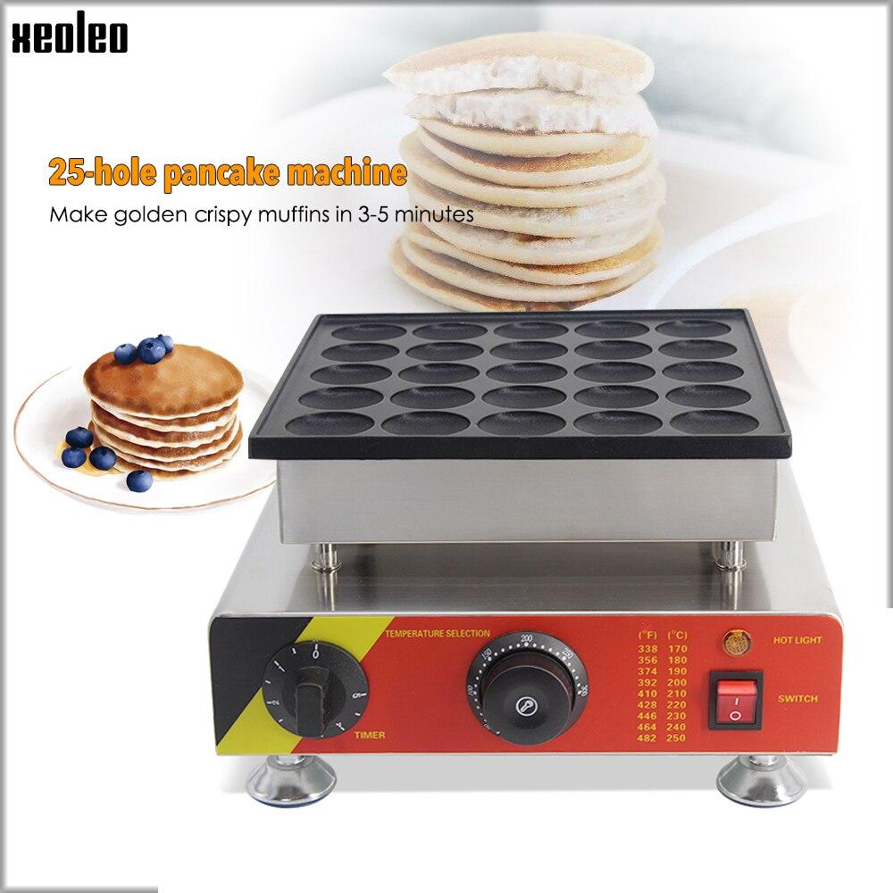 XEOLEO 25 trous crêpe machine 800 W Dorayaki fabricant antiadhésif Poffertjes machine Mini Dorayaki Griller Mini gâteau fabricant