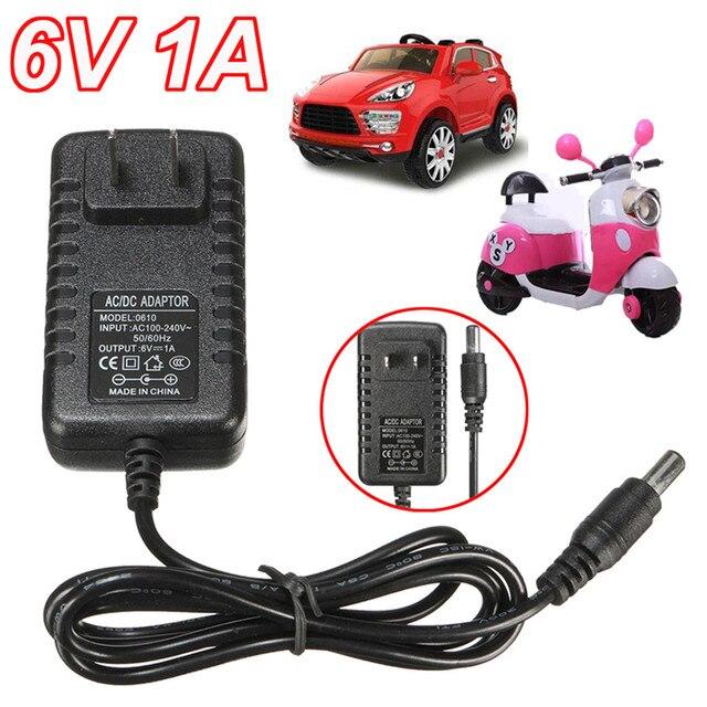 1 Pcs Akıllı Şarj 6 V AC 1A Adaptörü Şarj Için Çocuklar sürülecek araç Motosiklet Oyuncak 6 Volt