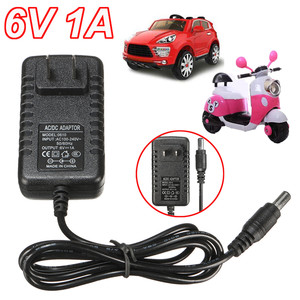 1Pcs Smart Charge 6V AC 1A Adapter Charger For Kids Ride on Cars Motorcycles Toy 6 Volt(China)