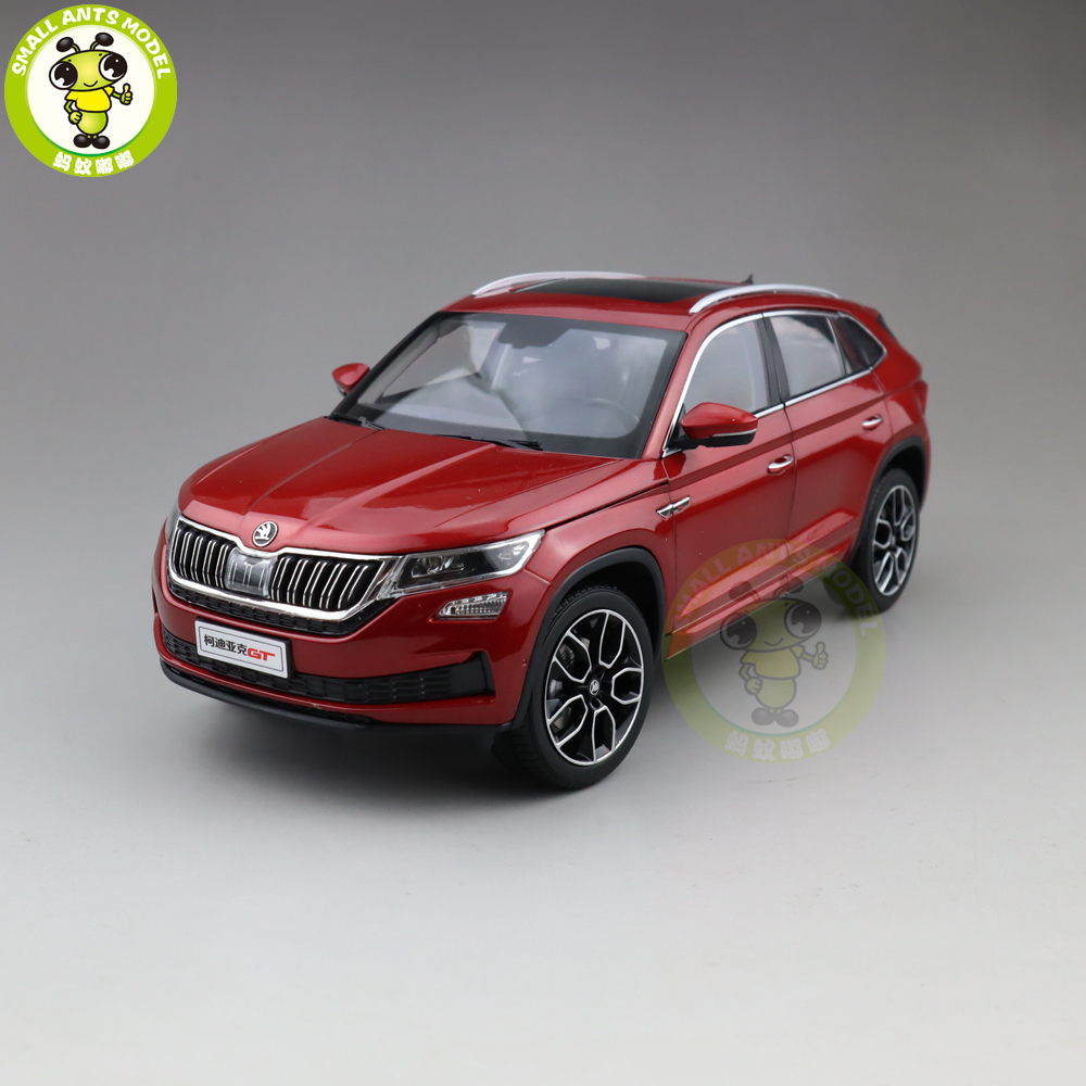 1 18 VW Skoda KODIAQ GT SUV Diecast Metal SUV CAR MODEL gift hobby collection Red