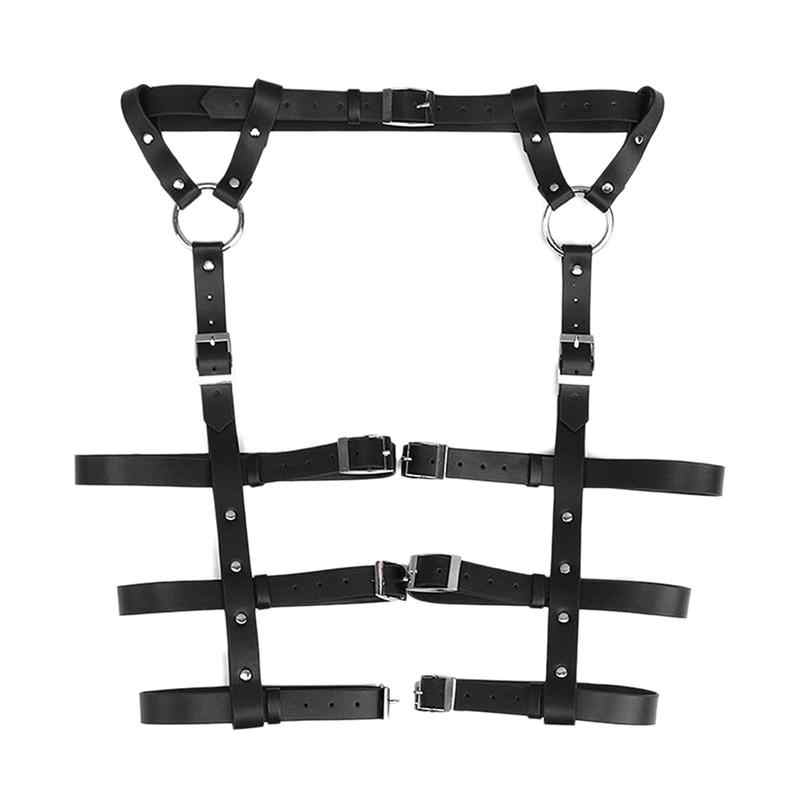 Restraints Kit Leg Restraint System Punk Bed Restraints Sex Bondage  Position Support SM Pants for Couples