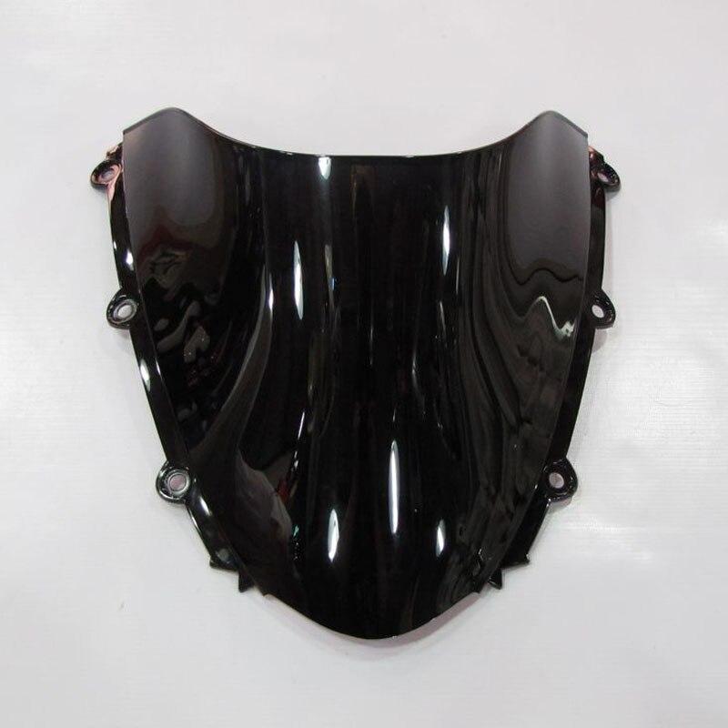 Для 2004 2005 2006 2007 honda cbr1000rr cbr 1000 rr fireblade лобовое стекло черный экран двойной пузырь части мотоцикла
