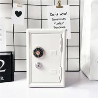 Rectangular Metal Mini Safe Password With Key Piggy Bank Safe Shape Piggy Bank Home Decoration Crafts Gifts