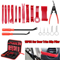 19Pcs/Set Car Clips Auto Trim Removal Kits for Car Door Molding Dash Panel Upholstery Fastener Remover Installer Tool