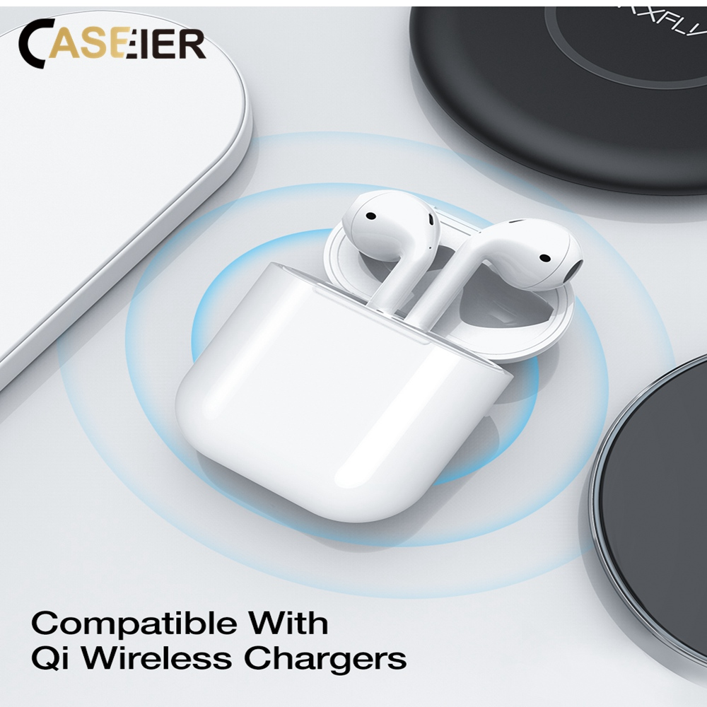 CASEIER Convenience Wireless Charger Box For AirPods Protective Case Wireless Charger Receiver For Airpod Case Charger Box in Mobile Phone Chargers from Cellphones Telecommunications
