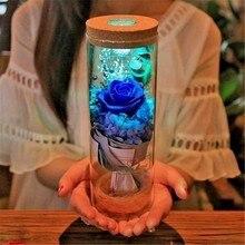 LED Rose Night Light | Flower Bottle Lamp