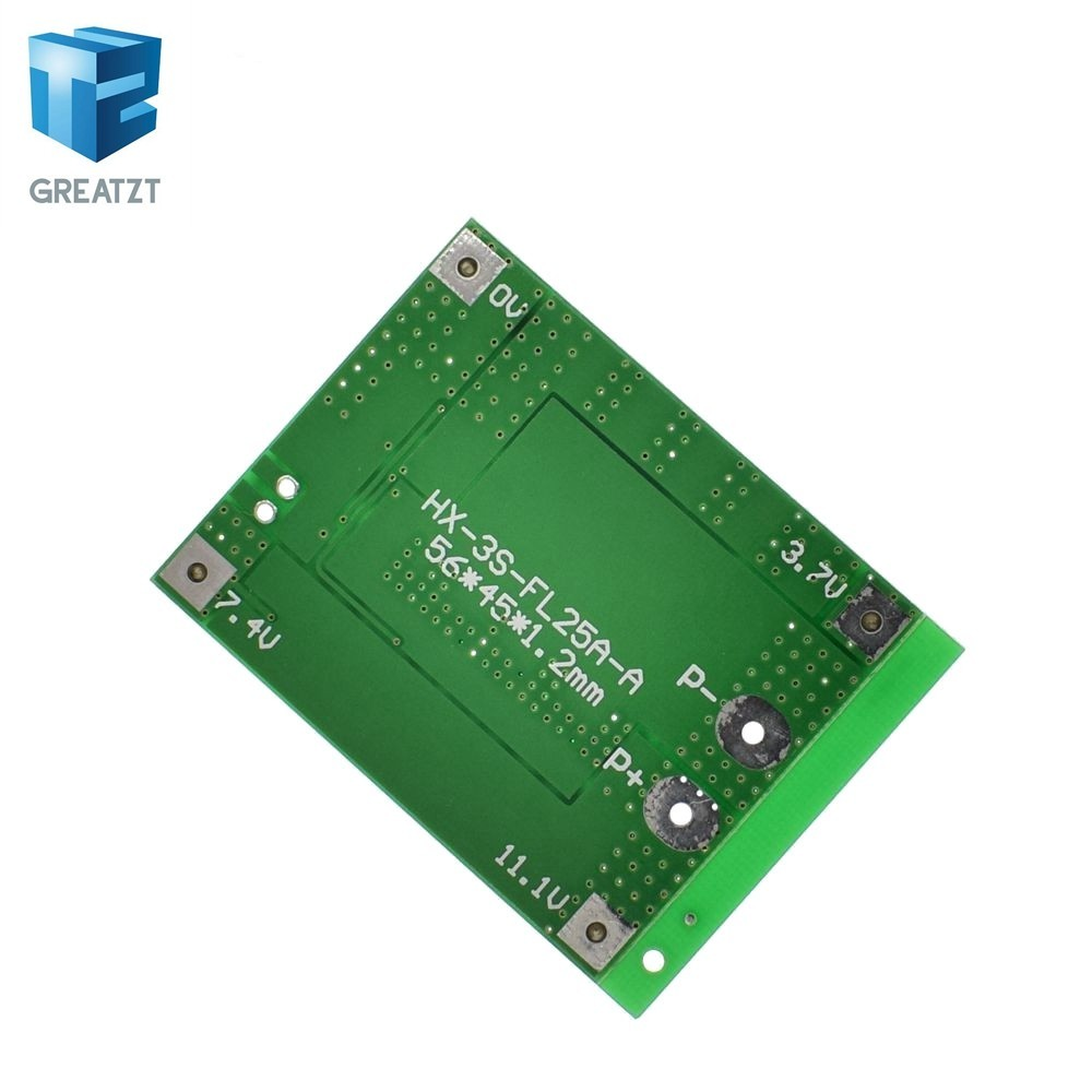 3S 11.1V Lithium Battery Charge Protection Board 15A 12.6V Limit Protect Board