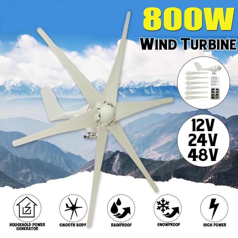 800W 12V 24 V 48 Volt Six Blades Wind Turbine Generator Horizontal Wind Generator Fit for Home lights Or Boat800W 12V 24 V 48 Volt Six Blades Wind Turbine Generator Horizontal Wind Generator Fit for Home lights Or Boat