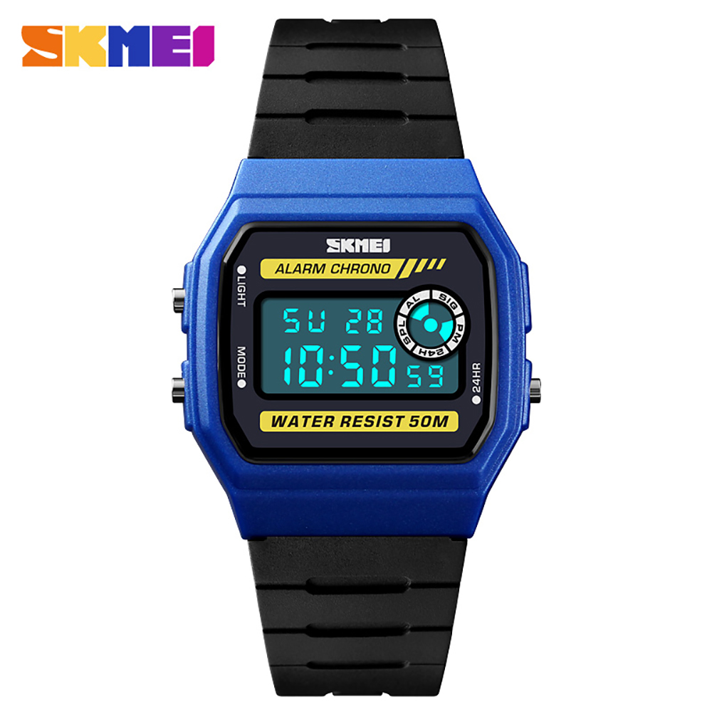 SKMEI 1413 Men Watch Fashion Casual Sports Wristwatch Alarm 5ATM Waterproof Leather Strap Backlight Watches Relogio Masculino g6 tactical smartwatch