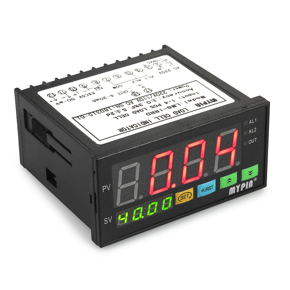 Dual Led Display Weight Sensor 1 To 4 Load Cell Signals Input Indicator Digital Weighing Controller