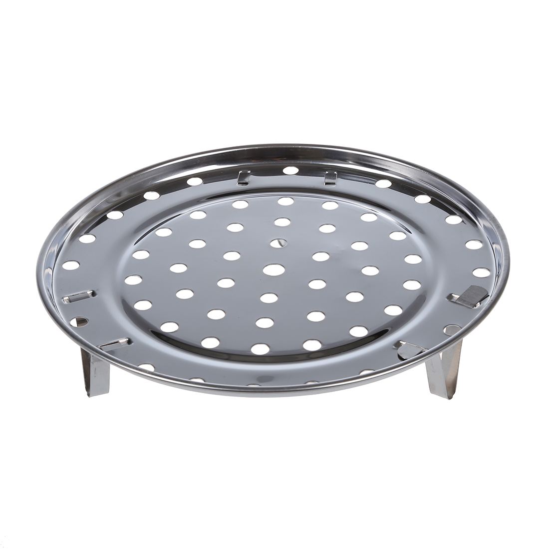 Promotion! Silver Tone Stainless Steaming Rack Tray W Stand For Cooker
