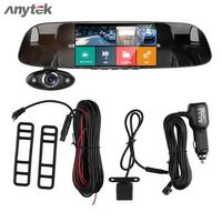 Anytek B33 5in 1080P FHD Car DVR Touch Rear View Mirror Camera 170 Degree G sensor Recorder Night Vision Dual Lens Dash Cam