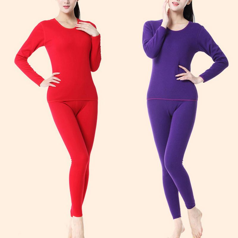 Plus SizeXXL Winter Thermal Underwear Sets Women Seamless Pant And Top Suit Warm Especially Female Velvet Thick Women's Intimate