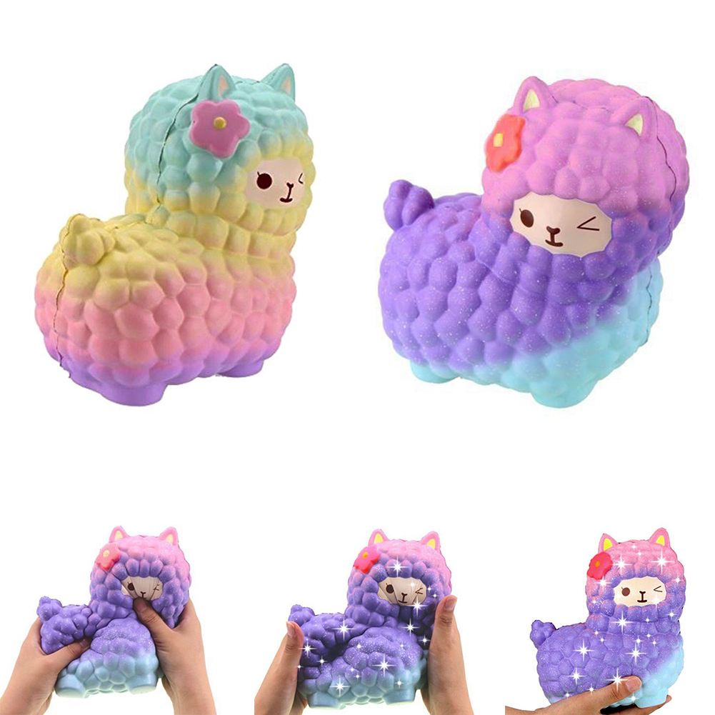 Squishies Adorable Llamas Squeeze Toy Squishy Slow Rising Scented Squeeze Stress Reliever Decor Antistress Decompression Toys