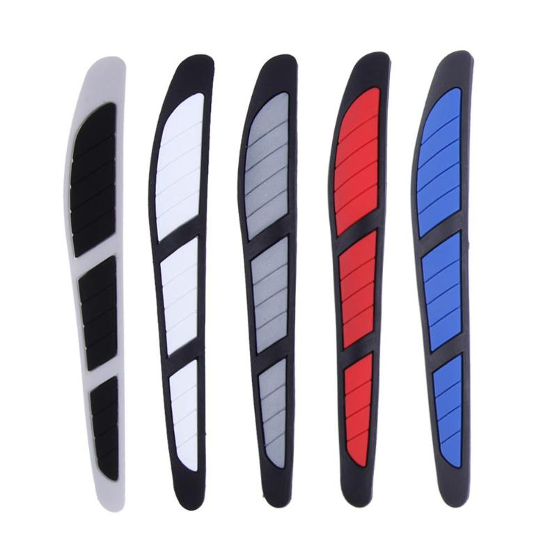 4pcs Car Door Edge Guard Strip Anti-collision Trim Side Mirror Scratch Protector 130*17mm/5.12*0.67in