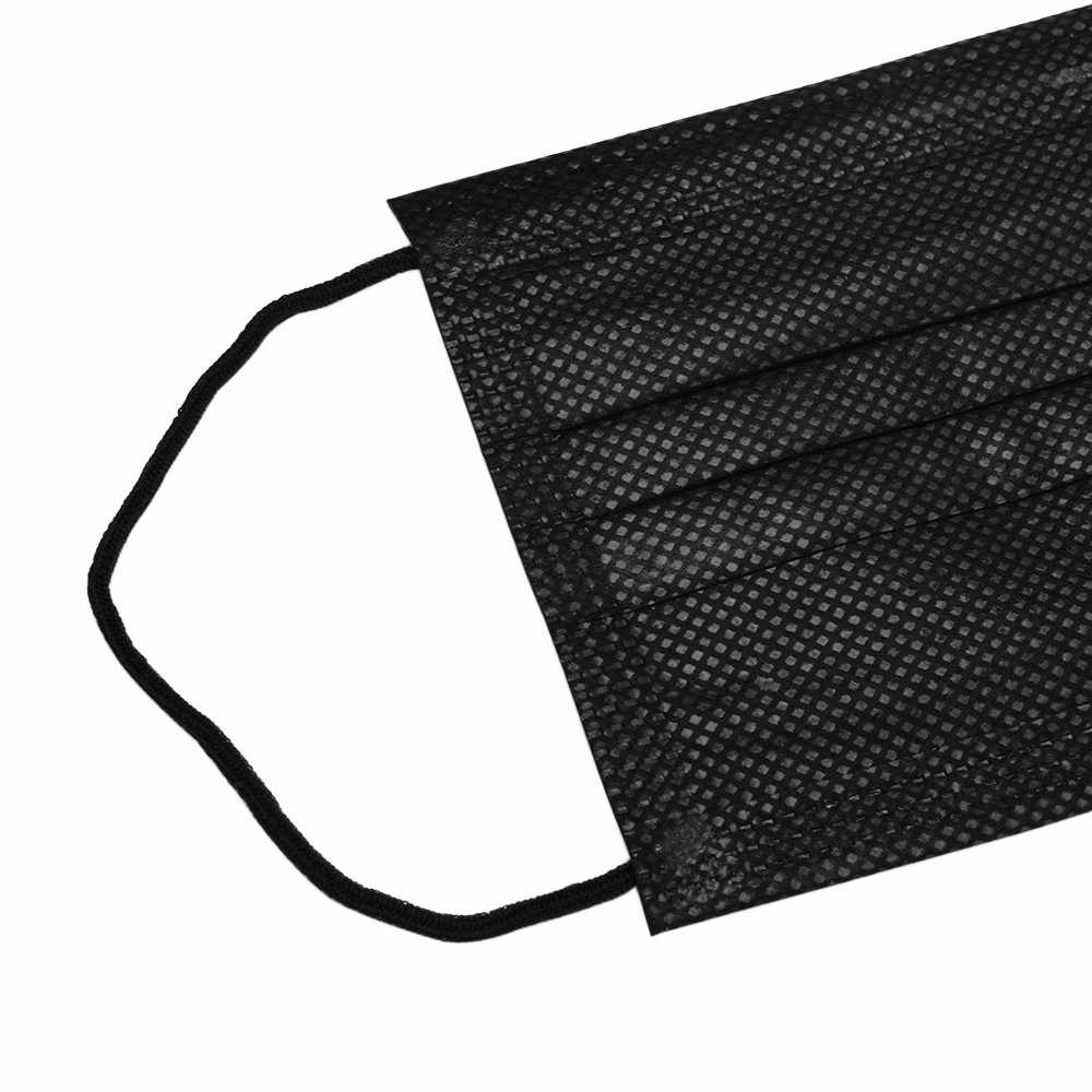 black cotton surgical mask