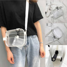 68d87a8319b2 Women PVC Jelly Transparent Shoulder Crossbody Bag Girl Messenger Clutch  Handbag Storage Bags