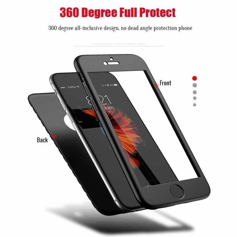 360 caso para Xiaomi mi 6 5X 6X A1 A2 mi 8 8 SE Lite Pocophone F1 rojo mi 4X5 Plus 6 Note 5A 5 6 Pro cuerpo completo suave TPU contraportada