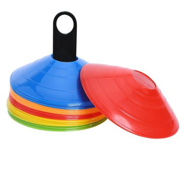 50 unids/lote entrenamiento de fútbol conos marcador discos deportes al aire libre accesorios 20 cm deportes platillo entretenimiento herramientas