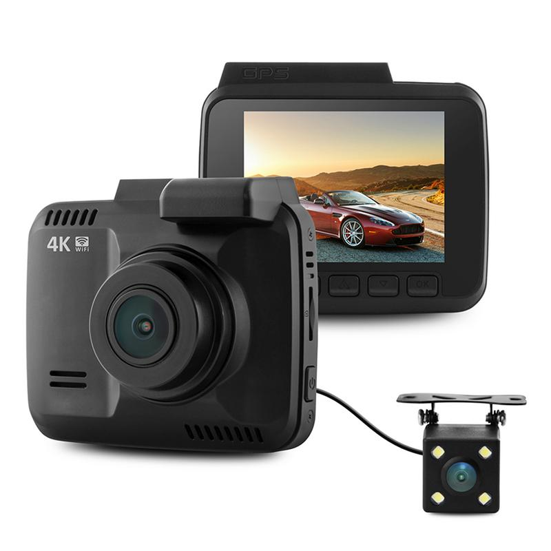 Driving-Recorder Dual-Lens WIFI Night-Vision Wide-Angle 170-Degree GS63D Lingdu Track