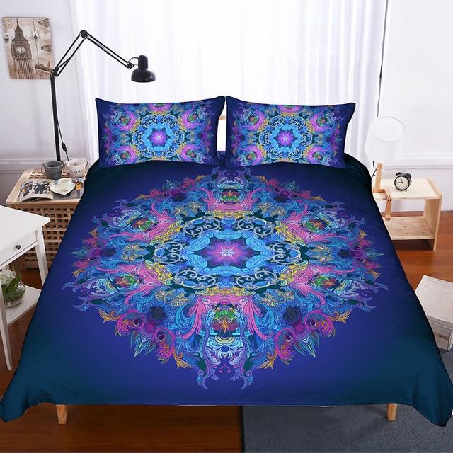 Fanaijia 3d Bohemian bedding set queen size Mandala Duvet Cover with pillowcase Bed Set Bedclothes