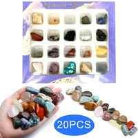 20 piezas irregulares tumbleados Mini minerales colección de piedra arte adorno decoración conjunto de regalos piedras y cristales piedras naturales minerales