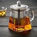 350ml 550ml 750ml Glas Platz Teekanne Hohe Temperatur Beständig Lose Blatt Blume Tee Kaffee Topf Edelstahl infuser Filter-in Teekannen aus Heim und Garten bei