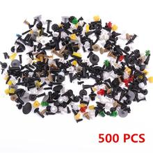 AOZBZ 500pcs Car Door Trim Panel Clip Fastener Rivets Pins Push in Pin Engine Fender Fastener Clip Pin Screwdriver Clip Set