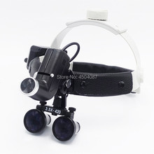 High Quality Wireless 5W LED Medical Headlamp+3.5X Magnifier Loupes Surgery Dental Headlight Loupe One Battery