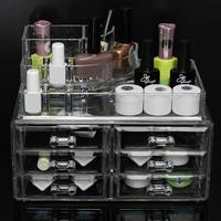 5 Layers Clear Acrylic Nail Polish Lipstick Cosmetic Varnish Holder Display Stand Case Makeup Orgranizer Storage Box Rack Stand