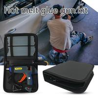 Hot melt glue gun kit 100 watts with tote bag and 12 glue sticks for DIY, craft items, sealing and quick repair