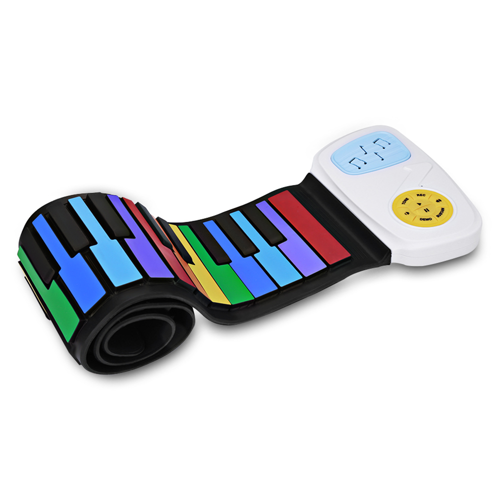 ADDFOO Multi Style Portable 49 Touches Flexible En Silicone Roll Up Piano Électronique Pliage Clavier Pour Enfants Étudiant