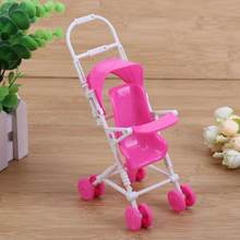 9pcs Plastic Doll Toy Set Car Dollhouse Miniature Set Mini Baby Stroller Cart Trolley Nursery Play House Doll Accessories(China)