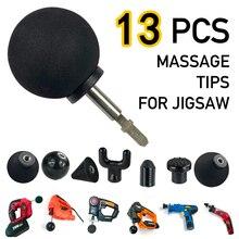 12 шт. Сменные ударные глубокий массаж насадки для пистолета для лобзика массажер набор наконечников массажер мышц тела для Милуоки M18