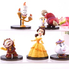 Aladdin Beauty And The Beast Belle Kawaii Cute Action Figure Collection Model To