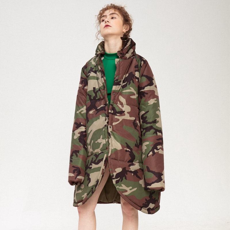 Coton Longues 2019 Poitrine Shown Montant Camouflage Poches Manches Ld842 Imprimé rembourré As eam Manteau Lâche Col Femme À Printemps Unique 6dnF6Hq0