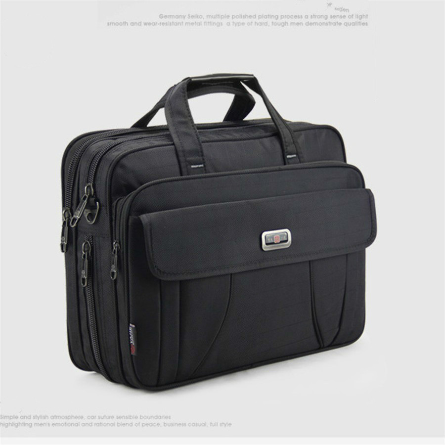 OYIXINGER Men Classic Business Briefcase Shoulder Bags 15 Inch Laptop Bag Waterproof Durable Travel Large Handbags Bolso Hombre