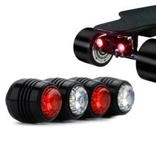 Koowheel 4Pcs Skateboard LED Lights Night Warning Safety Lights for 4 Wheels Skateboard Longboard