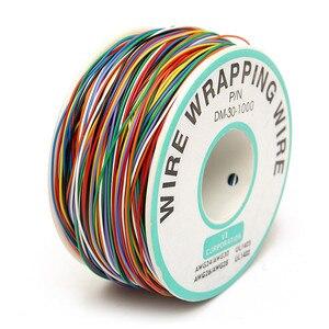 Rame Stagnato 250M 8-Colorate Filo Isolato P/N B-30-1000 30AWG Wire Wrapping Cable Wrap Bobina per la Scheda Madre Del Computer Portatile