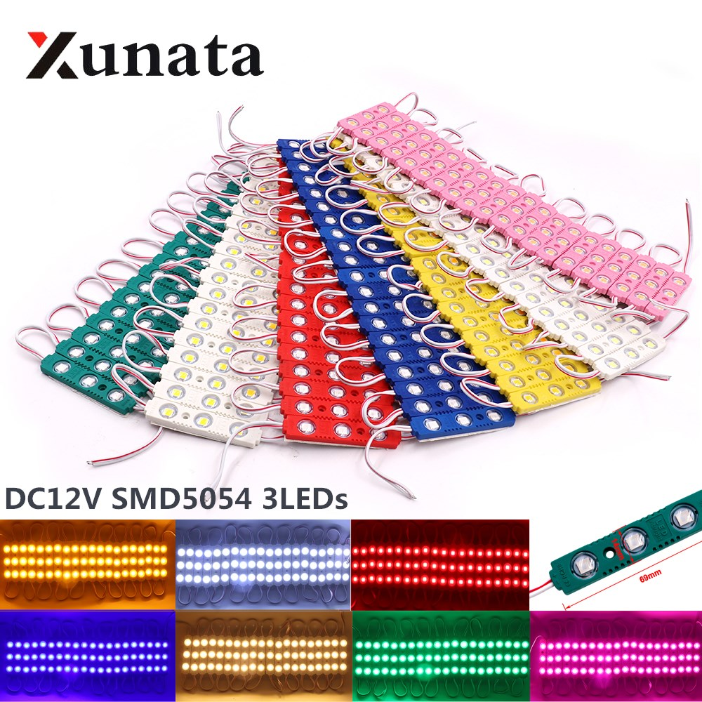 Super Bright SMD 5054 LED Module Advertisement Design High Quality LED Module Lighting 3 LED DC12V 1PC 5PCS 10PCS