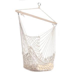 Beige Cotton Rope Hammock Net Swing Hanging Chairs for Kids Adults Outdoor Cradles Home Garden Hammocks